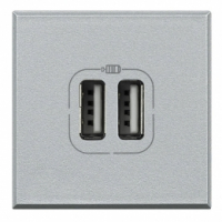 Caricatore USB Bticino Axolute chiara HC4285C2