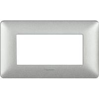 Placca 4 Moduli Bianco Calce Bticino Matix AM4804TBC