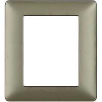 placca bticino matix AM4826MTA 3+3 poli colore titanium