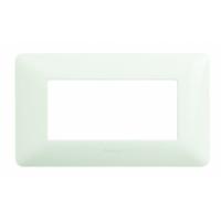 Placca 4 Moduli Bianco Bticino Matix AM4804BBN