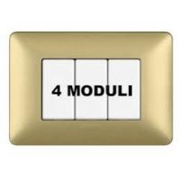 Placca 4 Moduli Gold Bticino Matix AM4804MGL
