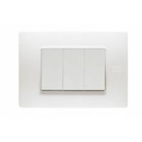 Placca 4 Moduli Bianco Puro Bticino Living Air LNC4804BN
