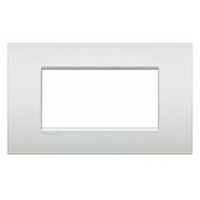 Placca 4 Moduli Bianco Perla Bticino Living Air LNC4804PR