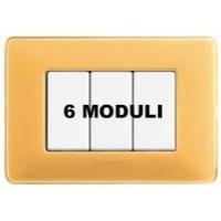 Placca 6 Moduli Ambra Bticino Matix AM4806CAB