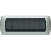Placca 7 Moduli Alluminio Bticino Living International L4807AL
