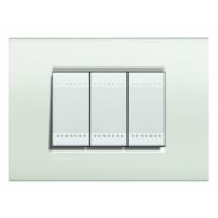 Placca 3 Moduli Bianco Bticino Living International LNA4803BI
