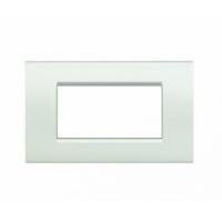 Placca 4 Moduli bianco Bticino Living International LNA4804BI