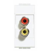 Doppio modulo RCA Bticino Living Light N4269R