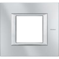 Placca 2 Posti Bticino Axolute Alluminio Tech HA4802HC