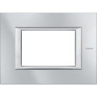 Placca 3 Posti Bticino Axolute Alluminio Tech HA4803HC