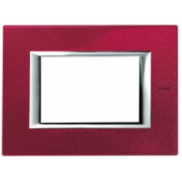Placca 3 Posti Bticino Axolute Rosso China HA4803RC