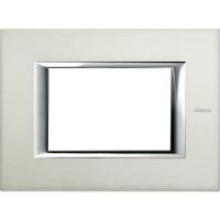 Placca 3 Posti Bticino Axolute Alluminio Spazzolato HA4803XC