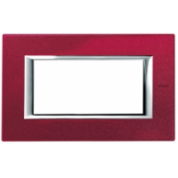 Placca 4 Posti Bticino Axolute Rosso China HA4804RC