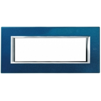 Placca 6 Posti Bticino Axolute Blu Meissen HA4806BM