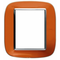 Placca Ovale 3+3 Bticino Axolute Arancio Liquido HB4826DR