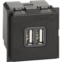 Caricatore Doppio USB Tipo A Bticino Living Now K4285C2
