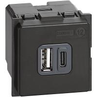 K4287C2 Caricatore USB Bticino Living Now 3A tipo A e C 2M