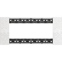 Placca 6 Moduli Bticino Living Now Pixel KA4806MW