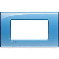 Placca 4 Moduli Azzurro Deep Bticino Living International LNA4804AD