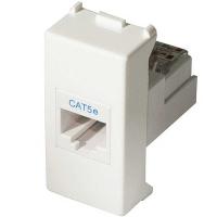 Mix presa RJ45 plug 8/8 bianca 21218 master