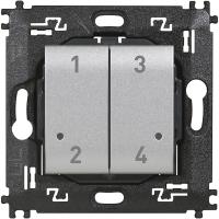 Comando 4 scenari wireless Bticino Living Light Tech NT4575CW