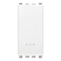 Eikon vimar pulsante 1 modulo no 10a colore bianco 20008.B